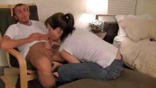 Smoking hot babe gets her lustful nasty hole licked by some dude