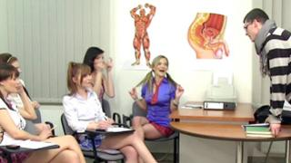 Sweet teacher is going to punish his badly mannered luxurious girls