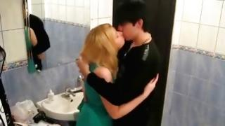 Blonde misbehaving whore is about kissing this gorgeous mister