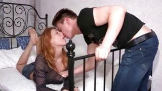 All through tittied sweetie is getting her slightly wet anal eye poked from behind