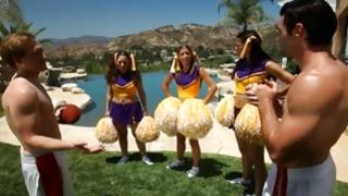 Bitchy cheerleader are seducing horrible guys