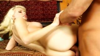 Seductive woman is trying to touch his nice penis
