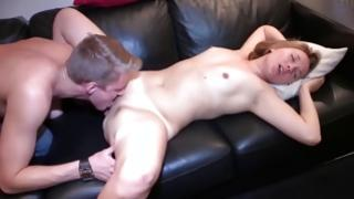 Guy doing cunnilingus on her special cunt