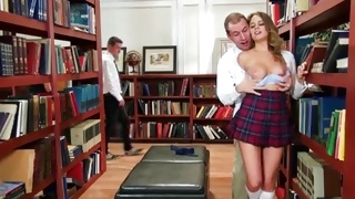 Perfect tittied kinky babe is fucked nasty from behind