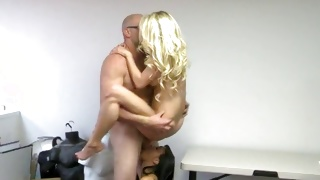 Two naked babes are having fun with each other riding cocks